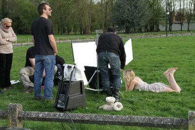 "Emilie Smill (tournage clip ""J'avance"")"