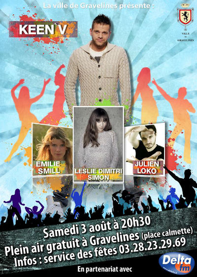 Emilie Smill, Keen'V, Leslie, Julien Loko (Plateau Delta FM à Gravelines)
